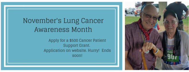 November's Lung Cancer Awareness Month Ends soon